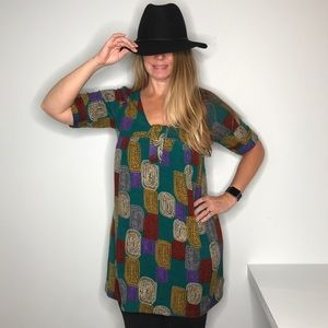 Vintage Inspired Print Tunic by Aryeh
